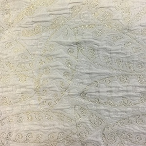 White & gold oriental fabric