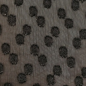 Black Plumetis fabric